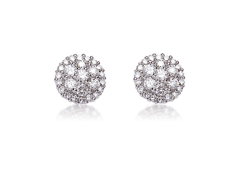 18ct White Gold Stud Earrings with 1.00ct Diamonds