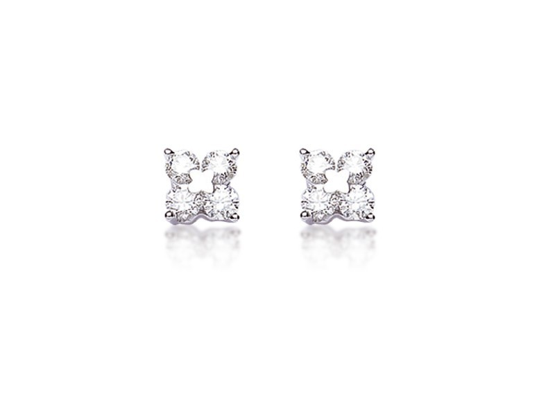 18ct White Gold Stud Earrings with 0.80ct Diamonds.