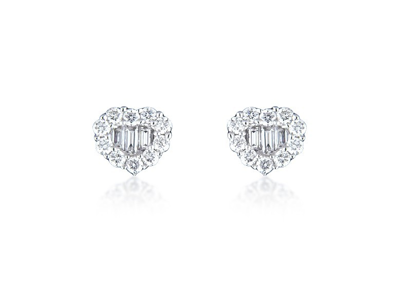 18ct White Gold Stud Earrings with 0.75ct Diamonds.