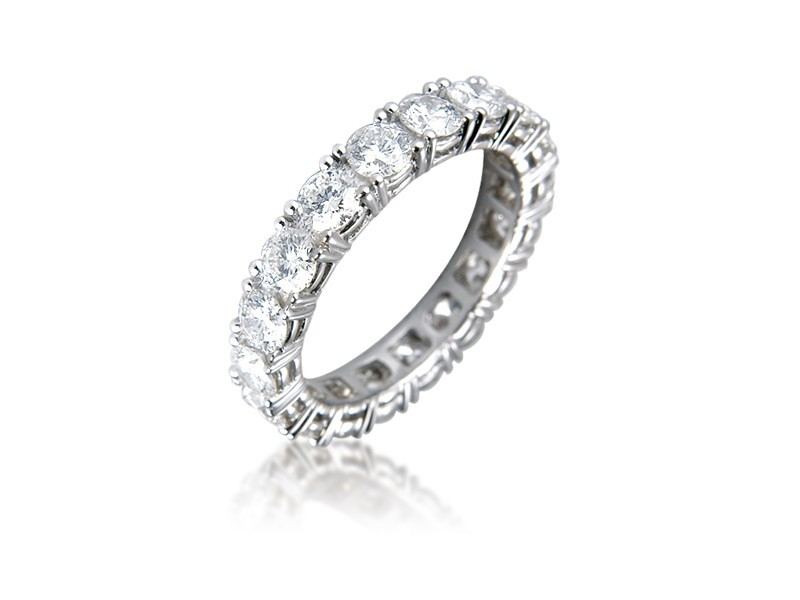 18ct White Gold Eternity Ring with 3.40ct Diamonds.
