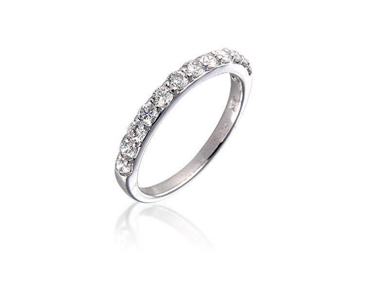 18ct White Gold Eternity Ring with 0.65ct Diamonds.
