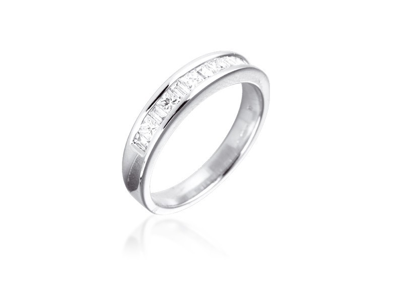 18ct White Gold Eternity Ring with 0.50ct Diamonds.