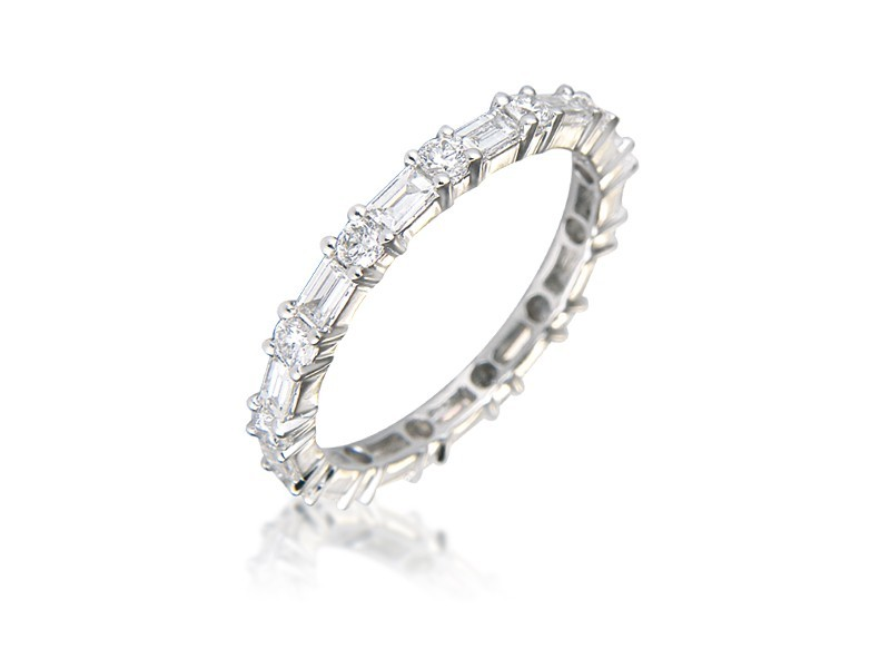 18ct White Gold Eternity Ring with 1.25ct Diamonds.