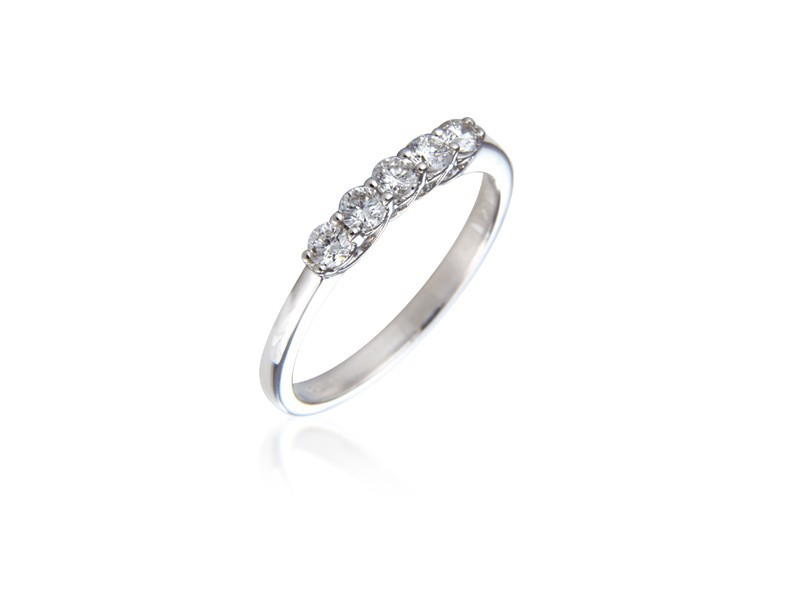 18ct White Gold Eternity Ring with 0.30ct Diamonds.