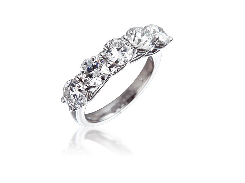 18ct White Gold Eternity Ring with 3.00ct Diamonds.