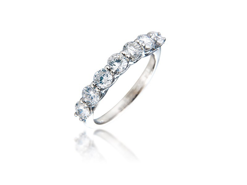 18ct White Gold Eternity Ring with 1.00ct Diamonds.