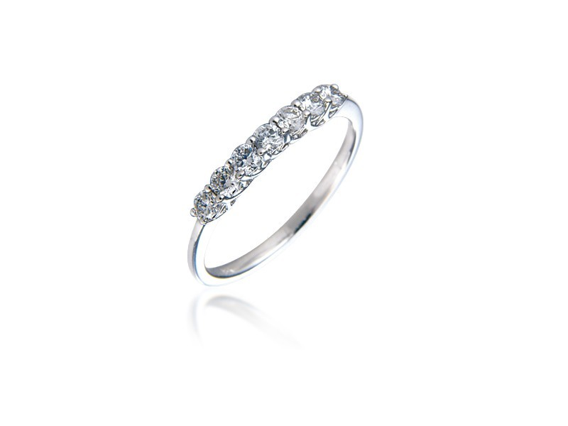 18ct White Gold Eternity Ring with 0.33ct Diamonds.