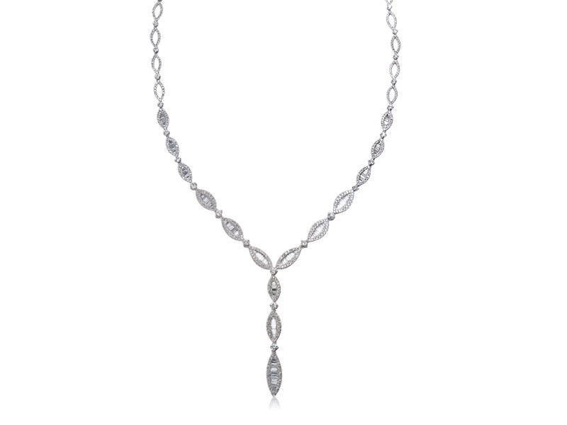 18ct White Gold & 5.90ct Diamonds Necklace