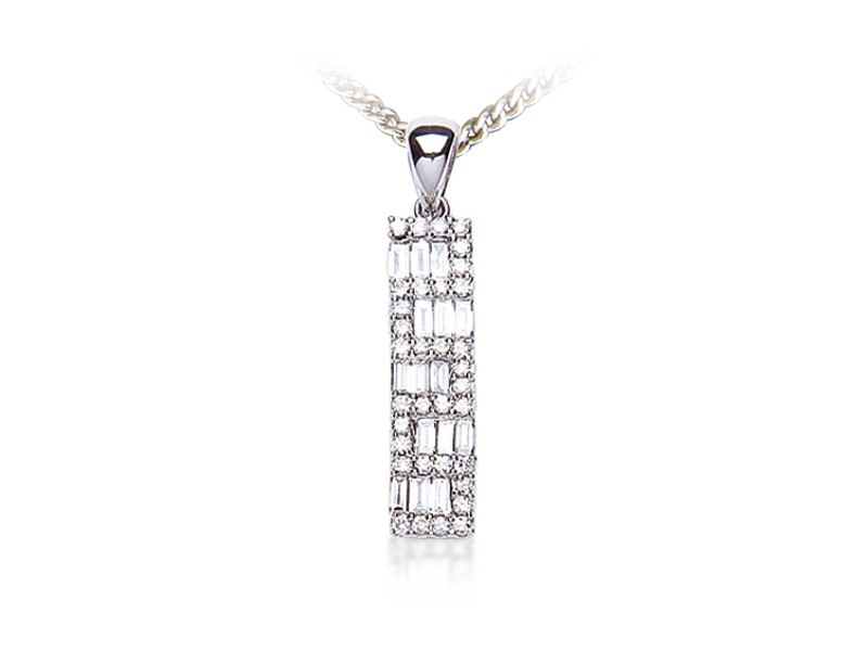 18ct White Gold Pendant with 0.40ct Diamonds.