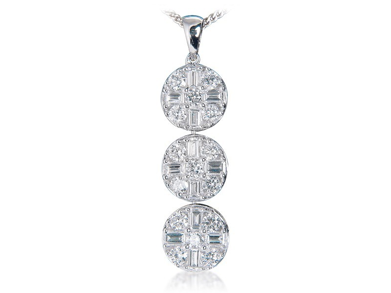 18ct White Gold Pendant with 1.00ct Diamonds
