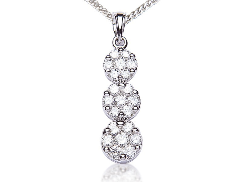 18ct White Gold Pendant with 2.00ct Diamonds.