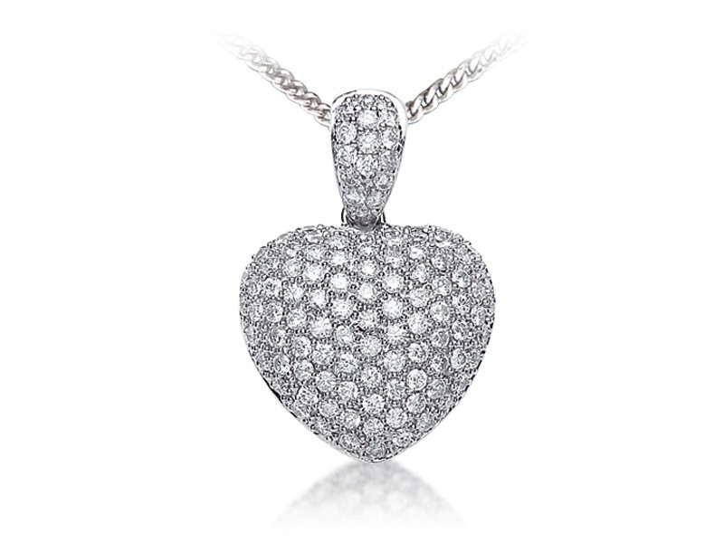 18ct White Gold Pendant with 1.45ct Diamonds.