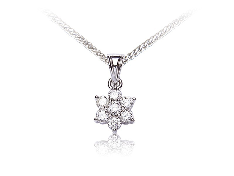 18ct White Gold Pendant with 0.50ct Diamonds