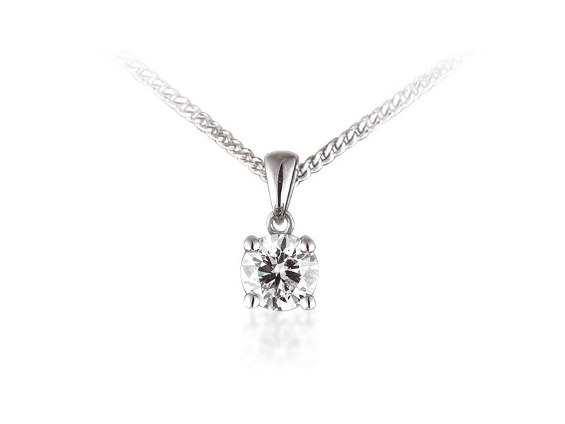 18ct White Gold Pendant with Brilliant Cut 0.75ct Diamonds.