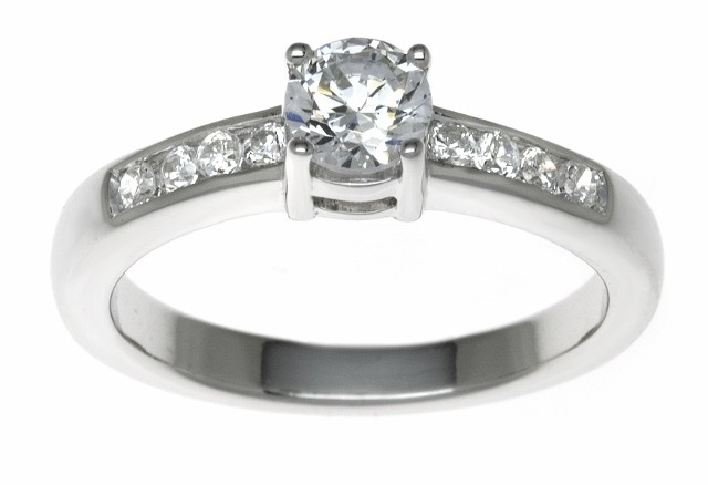 18ct White Gold 0.38ct Diamonds Solitaire Engagement Ring