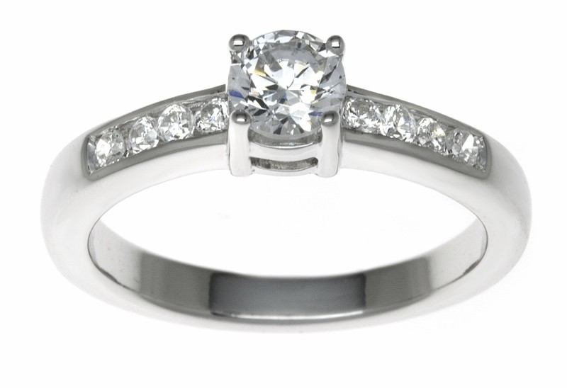 18ct White Gold 0.45ct Diamonds Solitaire Engagement Ring