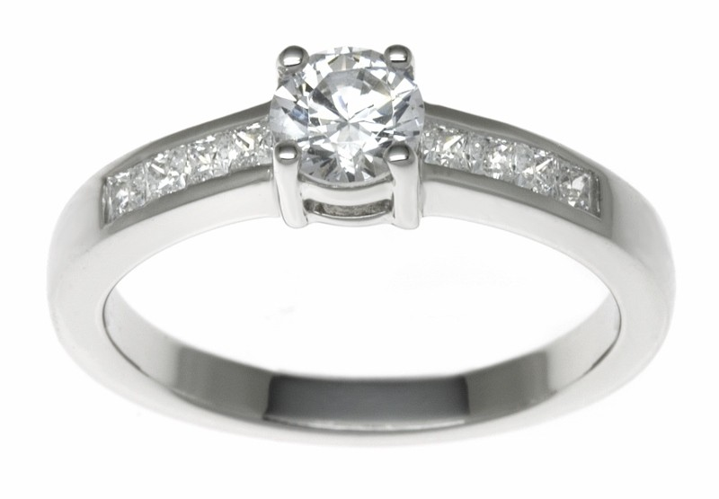 18ct White Gold 0.52ct Diamonds Solitaire Engagement Ring
