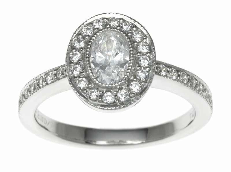 18ct White Gold 0.53ct Diamonds Solitaire Engagement Ring