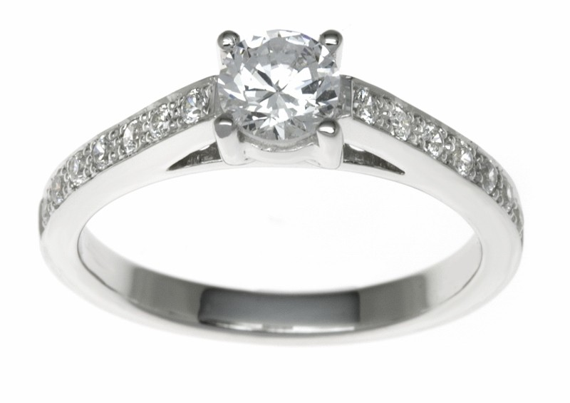 18ct White Gold 0.84ct Diamonds Solitaire Engagement Ring