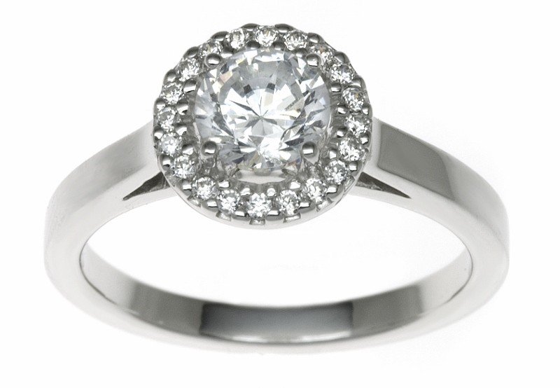 18ct White Gold 0.24ct Diamonds Solitaire Engagement Ring
