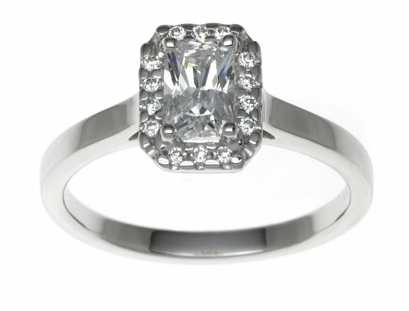 18ct White Gold 0.61ct Diamonds Solitaire Engagement Ring