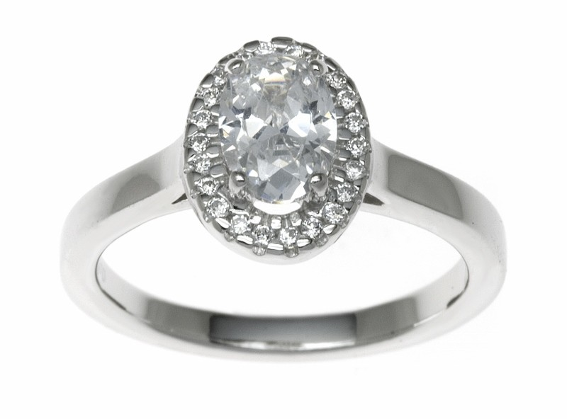 18ct White Gold 0.86ct Diamonds Solitaire Engagement Ring