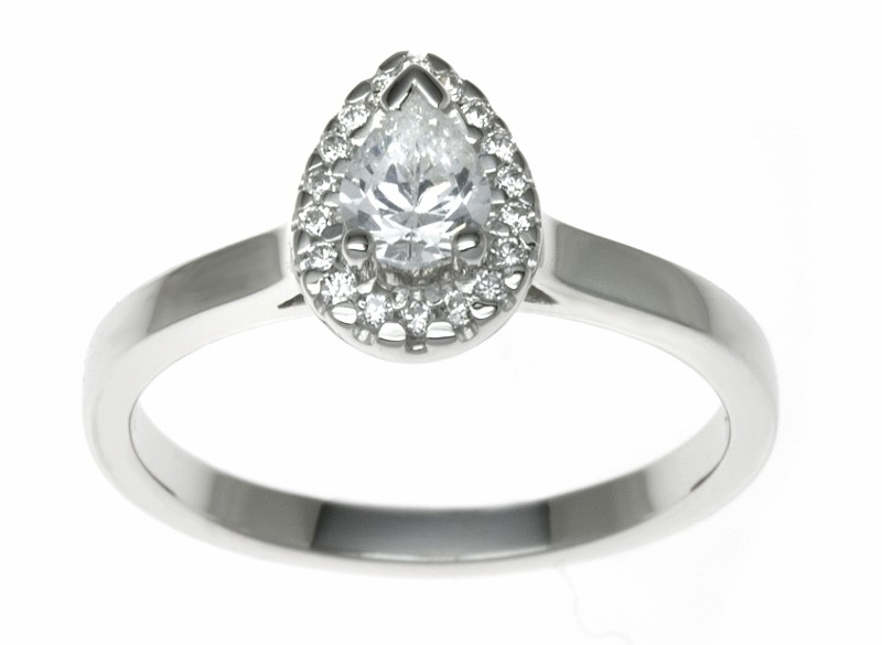 18ct White Gold 0.59ct Diamonds Solitaire Engagement Ring