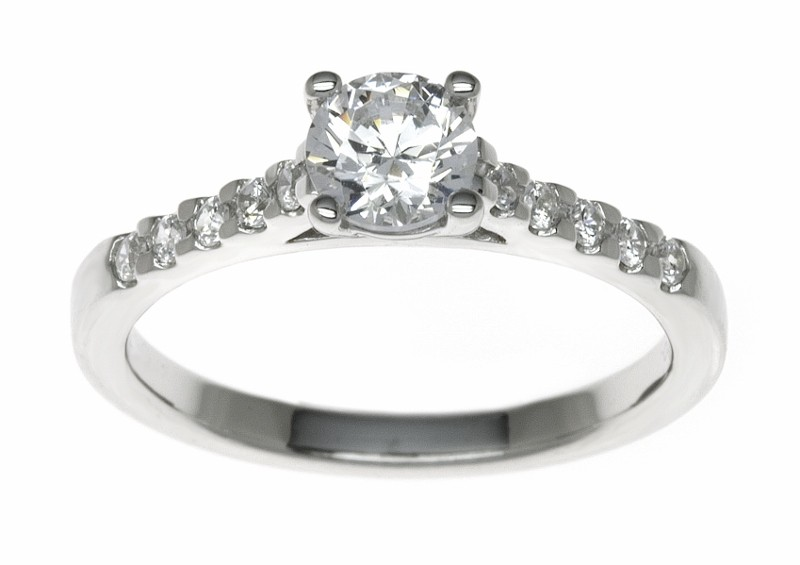 18ct White Gold 0.65ct Diamonds Solitaire Engagement Ring
