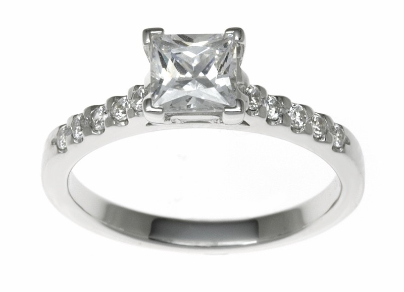 18ct White Gold 0.78ct Diamonds Solitaire Engagement Ring