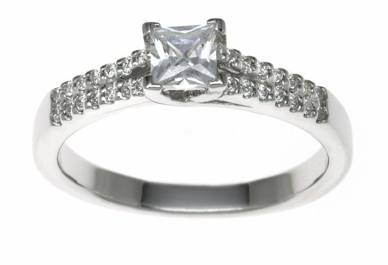 18ct White Gold 0.44ct Diamonds Solitaire Engagement Ring