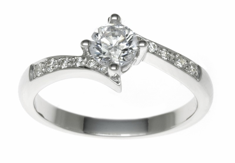 18ct White Gold 0.87ct Diamonds Solitaire Engagement Ring