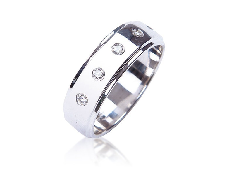 18ct White Gold & 0.30ct Diamonds Wedding Ring
