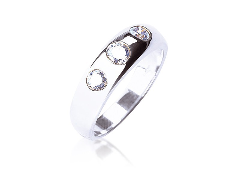 18ct White Gold & 1.00ct Diamonds Wedding Ring