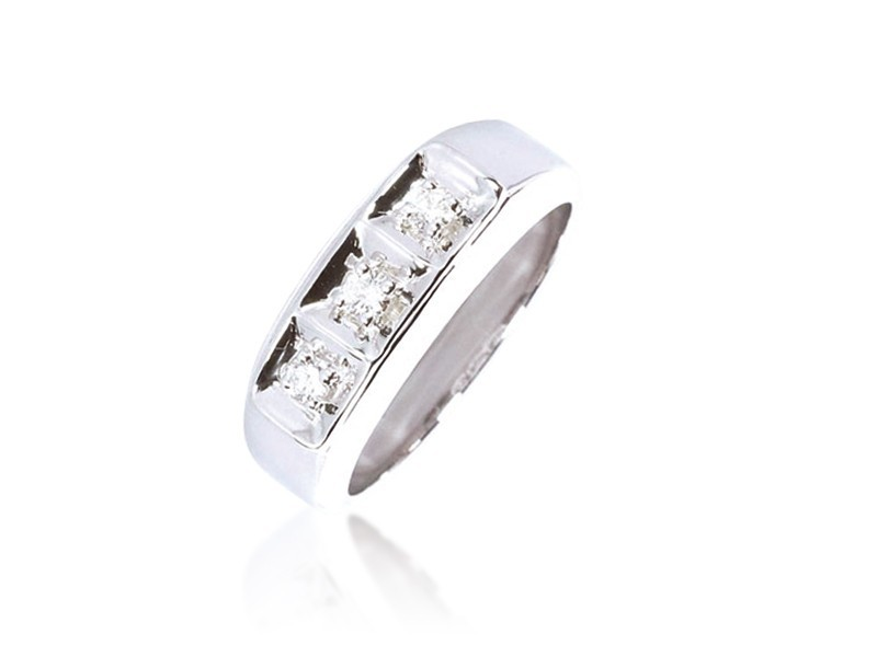 18ct White Gold & 0.25ct Diamonds Wedding Ring