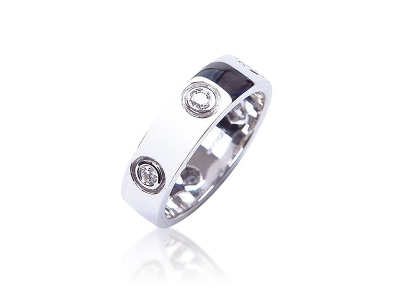 18ct White Gold & 0.35ct Diamonds Wedding Ring