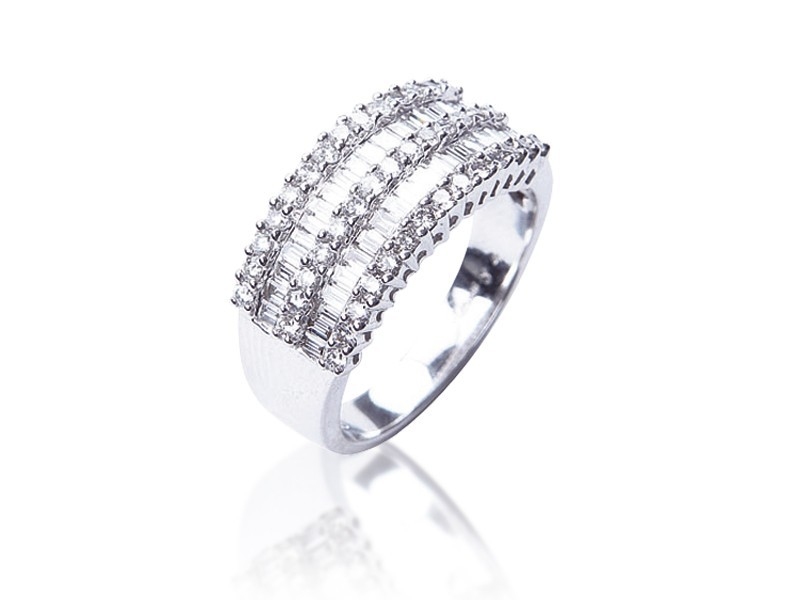 18ct White Gold & 1.15ct Diamonds Wedding Ring