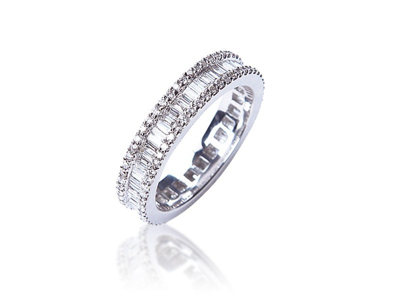 18ct White Gold & 1.35ct Diamonds Wedding Ring