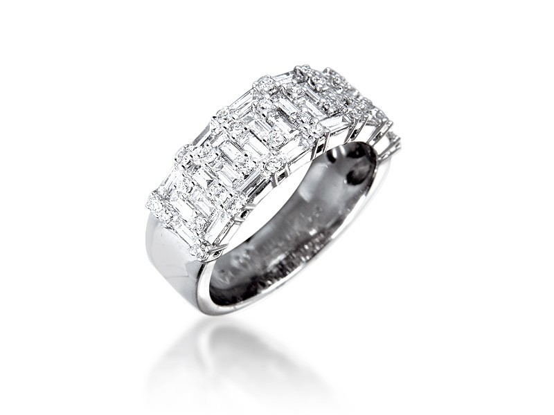 18ct White Gold & 1.25ct Diamonds Wedding Ring