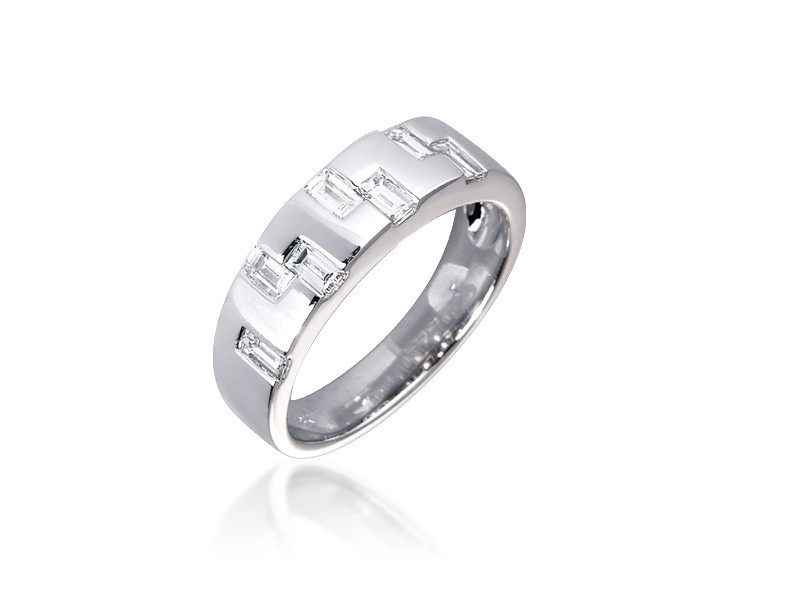 18ct White Gold & 0.50ct Diamonds Wedding Ring