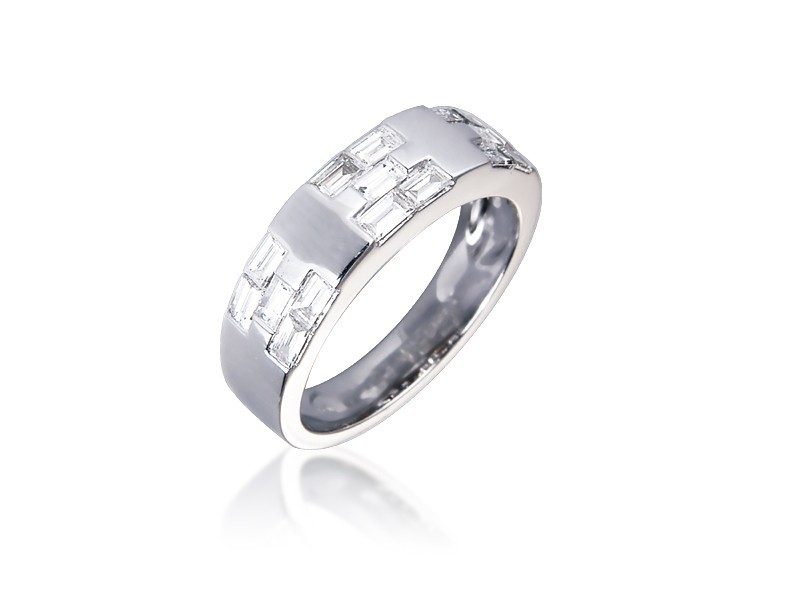 18ct White Gold & 0.70ct Diamonds Wedding Ring