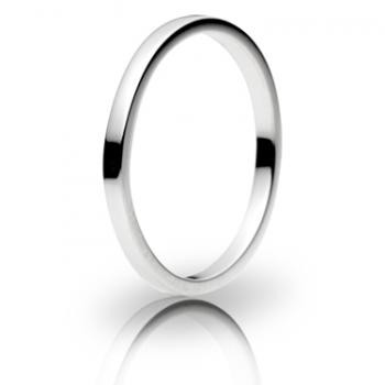 18ct White Gold 2mm Flat Wedding Band 2.3gms