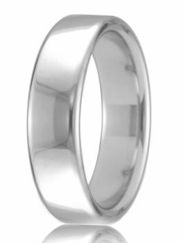 18ct White Gold 4mm Court Wedding Band 6.8gms