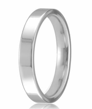 18ct White Gold 4mm Easy Fit Wedding Band 6.2gms