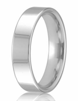 18ct White Gold 5mm Easy Fit Wedding Band 8.6gms