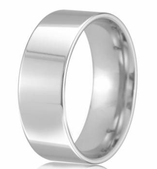18ct White Gold 8mm Easy Fit Wedding Band 14.4gms