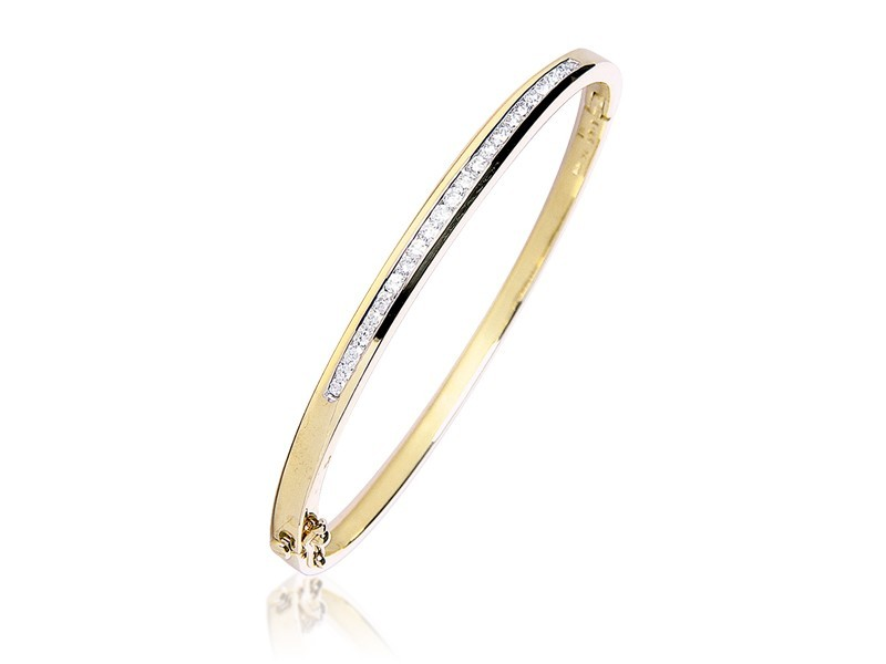 9ct Yellow Gold & 1.00ct Diamonds Bracelet