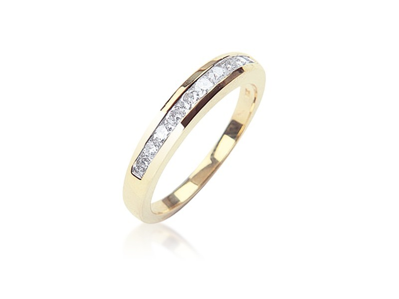 9ct Yellow Gold Eternity Ring with 0.50ct Diamonds.