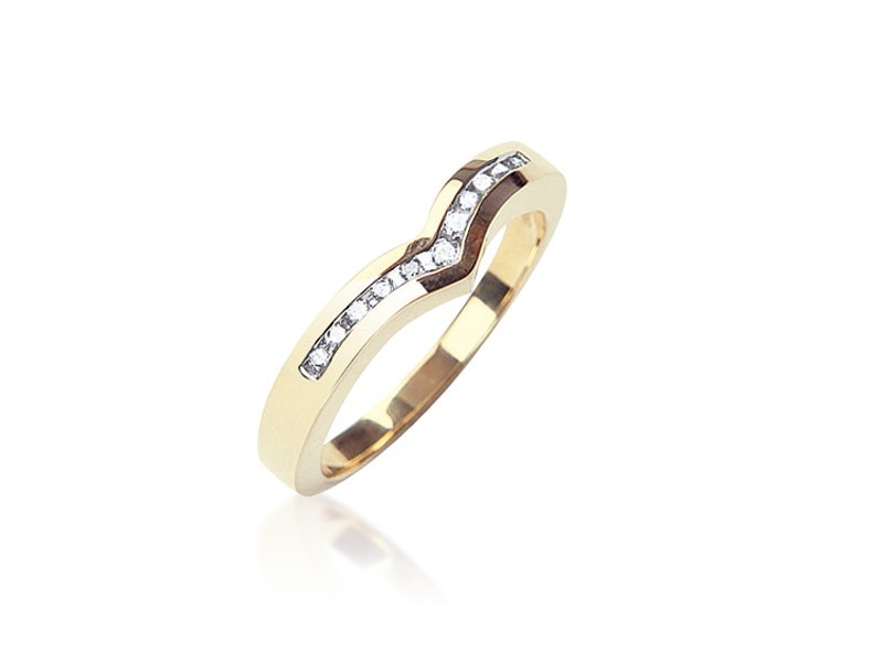 9ct Yellow Gold Eternity Ring with 0.15ct Diamonds.
