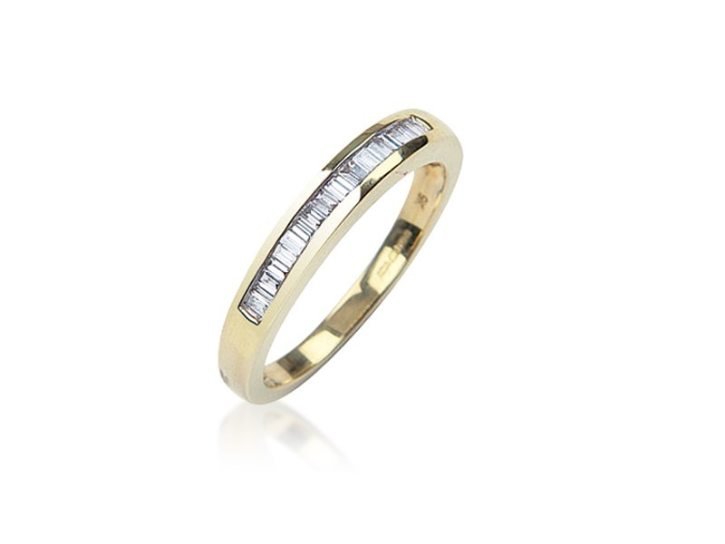 9ct Yellow Gold Eternity Ring with 0.25ct Diamonds.