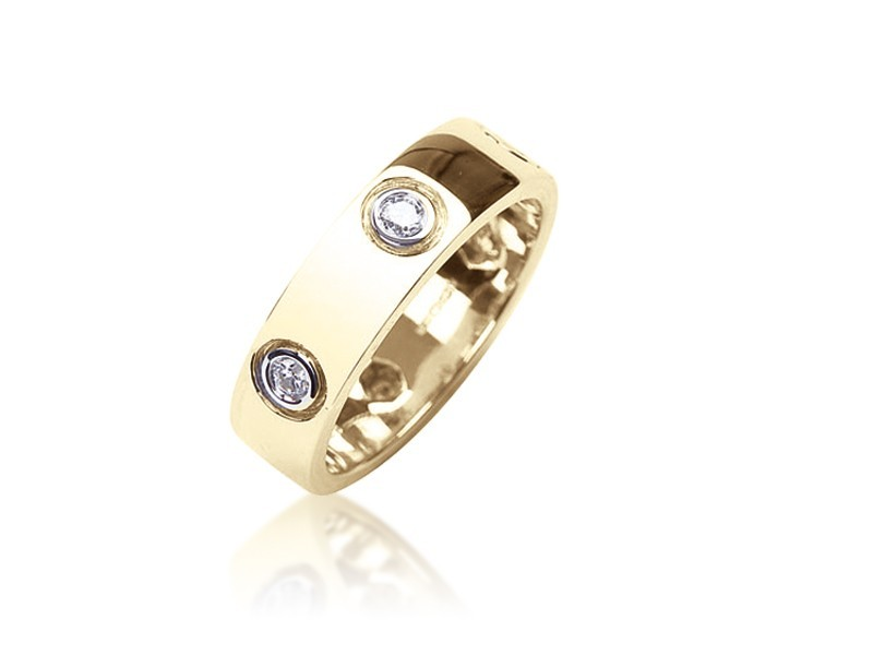 9ct Yellow Gold & 0.35ct Diamonds Wedding Ring